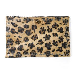 Leopard print pouch