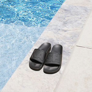 kash slides sandal black
