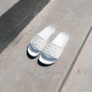 kash slides sandal white