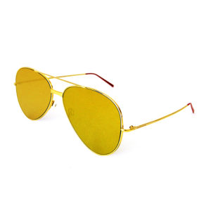 sunglasses gold side