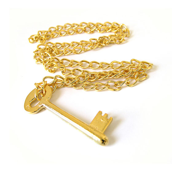 necklace-key-gold