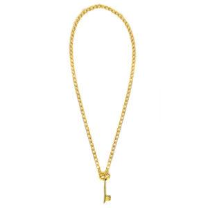 necklace key gold