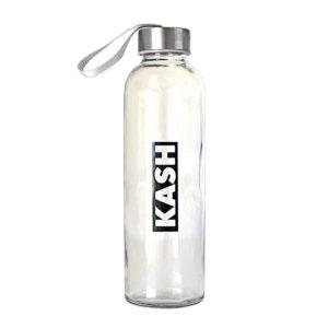 glass water bottle kash