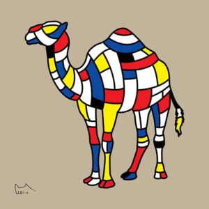 camel naga artwork 75x75 cm