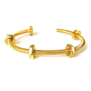 bracelet cuff screws gold