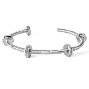 bracelet screws silver cuff