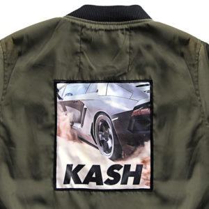 jacket green lamborghini back