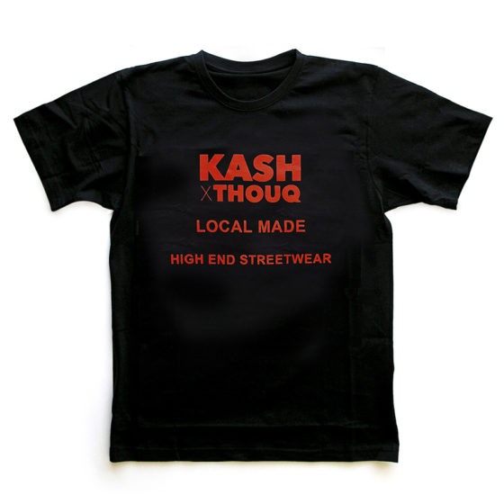 t-shirt kash x thouq local