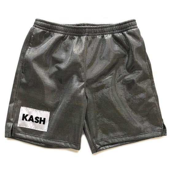 shorts silver metallic