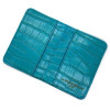 wallet passport turquoise